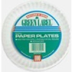 White Spiral Uncoated Paper Plate – 9″