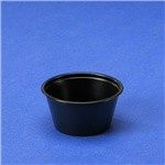 2 Oz. Black Plastic Portion Cup