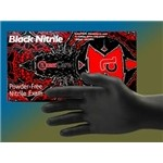 Black Widow – Black Powder – Free Nitrile Examination Gloves, Large Powder Free